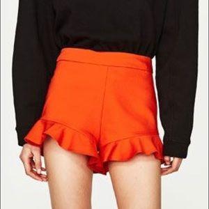 Zara Ruffle Bottomed Shorts